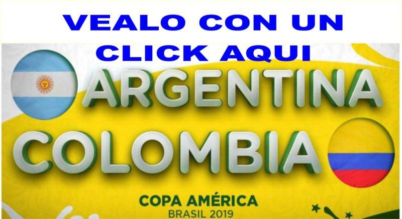 Vea el partido Colombia,  Argentina  con un click aqui
