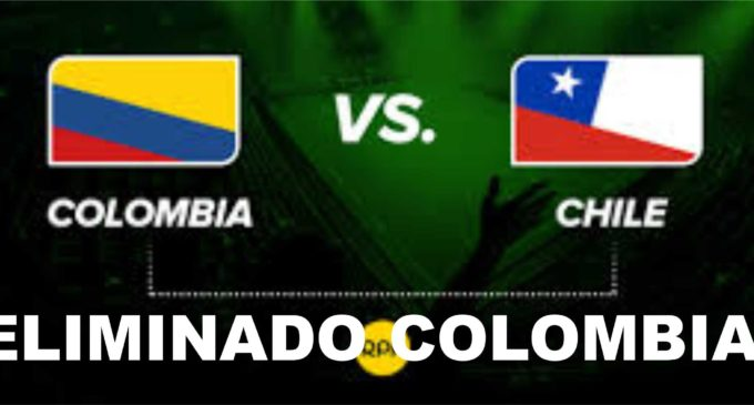Chile elimino a Colombia