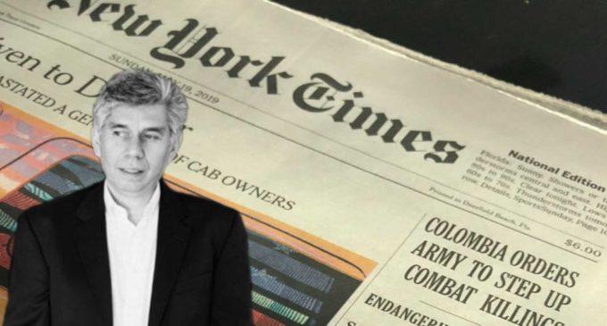 La primera crónica de Coronell en el New York Times después de salir de Semana