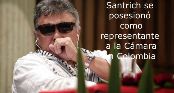 Santrich se posesionó como representante a la Cámara en Colombia