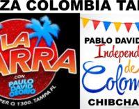 Hoy Plaza Colombia en Tampa cene en la Pequeña Colombia,  el cafe en el Bakery amanezca rumbiando  con Pablo David Osorio  en la discoteca
