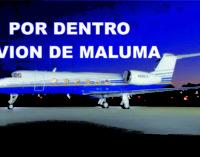 Por dentro avión de Maluma (FOTOS)