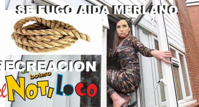Se les fugo  la exparlamentaria Aida Merlano por una ventana, usando una soga y una moto, condenada a 15 años de carcel