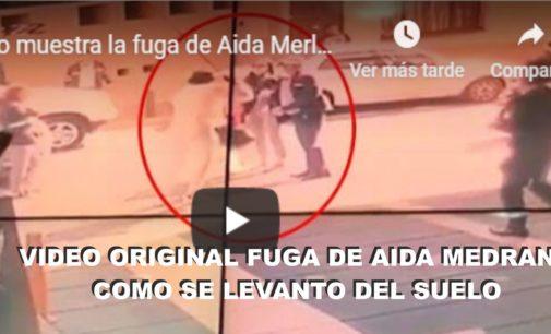 El video original, fuga Aida Merlano, desde un tercer piso, huyendo en moto y como cayó al suelo, estaba más preparada que un yogurt.