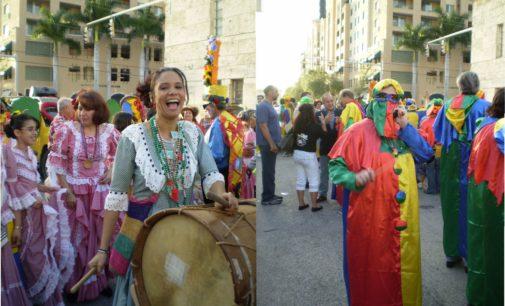 Cuando Carmenza Jaramillo, saco del consulado el Carnaval de Barranquilla para mostrarlo por las calles de Coral Gables en 50 fotos aquí