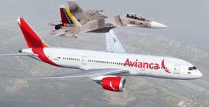 aviones militares venezolanos interceptan vuelo de avianca Colombia