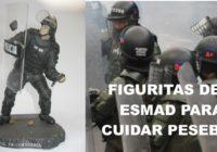 Venden  figuritas del Esmad para cuidar pesebres
