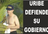 Uribe en chanclas y pantaloneta defiende su gobierno video