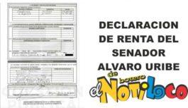 Nos llegó la declaración de renta del senador Alvaro Uribe