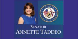 """Senadora colombiana Taddeo, celebro con estruendoso éxito, """"El día de Colombia en el Capitolio de la Florida"""". Frente al pleno del Senado y Cámara estatal."""