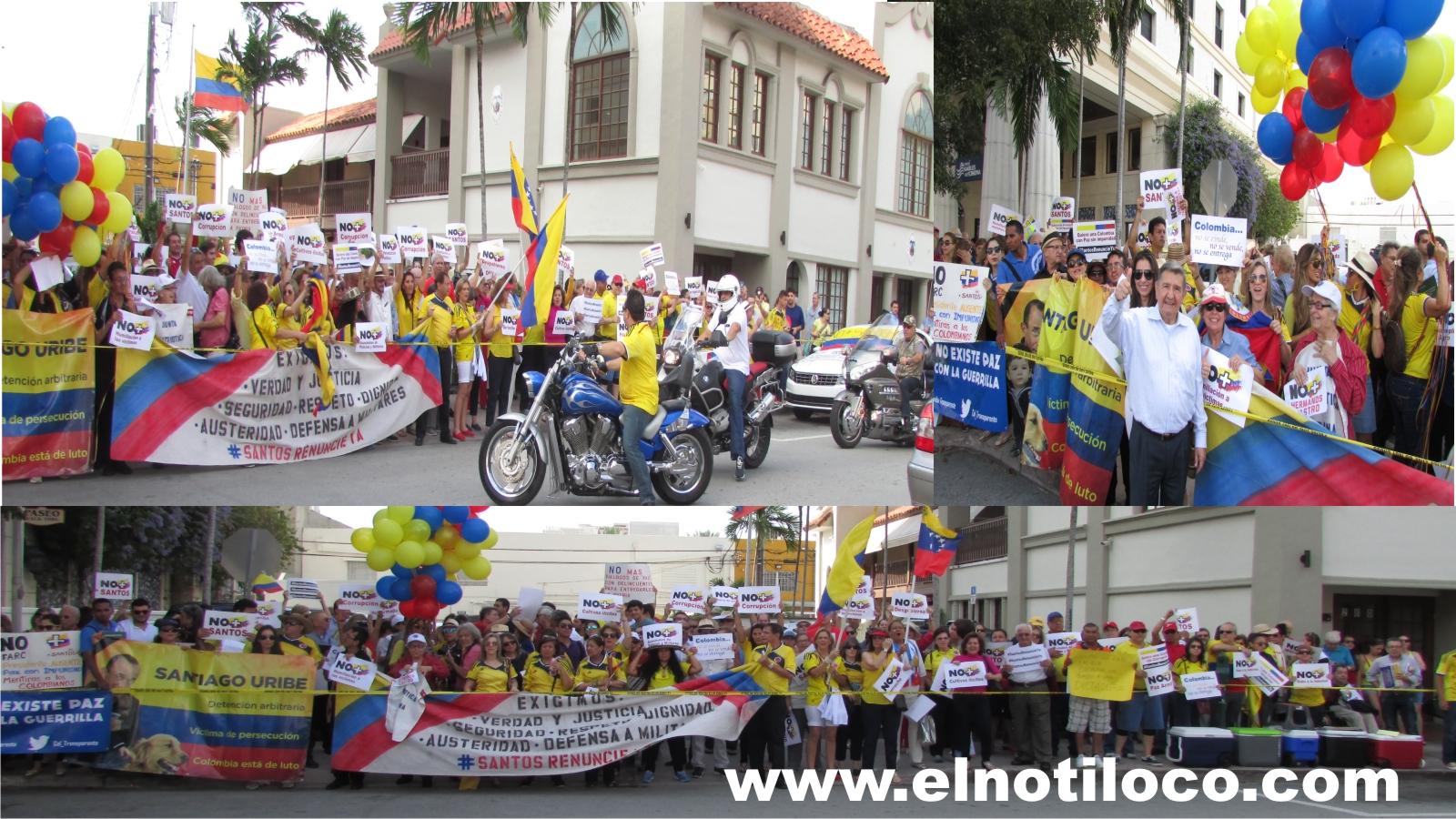 manifestacion Miami Santos