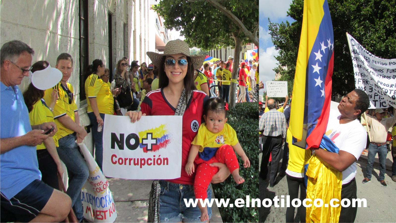 marcha paz Miami venezuela